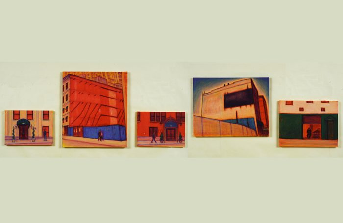 003-02 Wall & Street, N.Y., 2009, 53.5x236.5cm, $5,600 (Set of 5pcs)