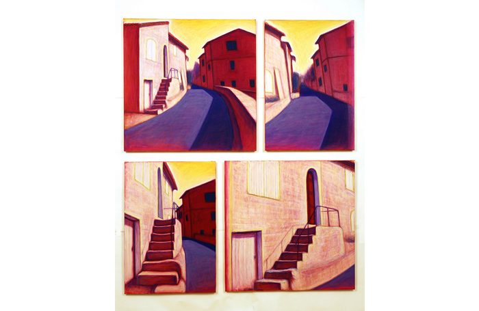 003-04 A way, Provence, 2008, 151 x 128cm, oil on canvas, $11,400  (Set of 4pcs)