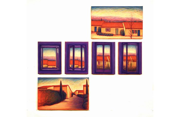003-05 From Window, Provence, 2007, 109.5x111.5cm, oil on canvas, $5,600  (Set of 6 pcs)