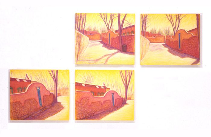 003-06 Air, Santa Fe-2, 2004, 96 x 169 cm, oil on canvas, $6,600  (Set of 4 pcs)