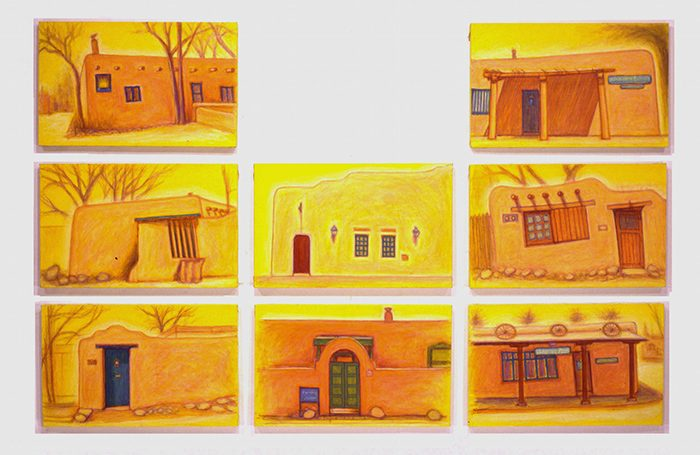 003-07 Adobe, Santa Fe-1, 2004, 109.5 x 168cm, oil on canvas, $10,200(Set of 8pcs)