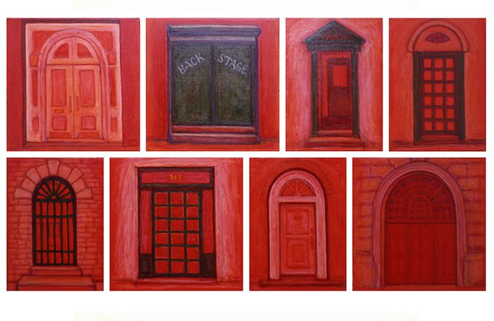 003-09 Door and Window, N.Y.-1b, 2000, 69 x 121cm, oil on canvas, $5,300  ( Set of 8pcs)