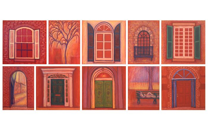 003-10 Door and Window-4, N.Y., 2000, 69 x 156.5cm, oil on canvas, Sold