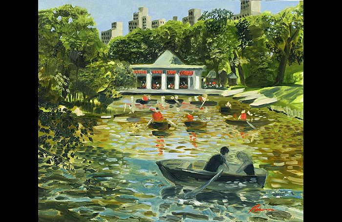 001-11. Central Park Opas One 2019. Oil on canvas. 20x24.   SOLD