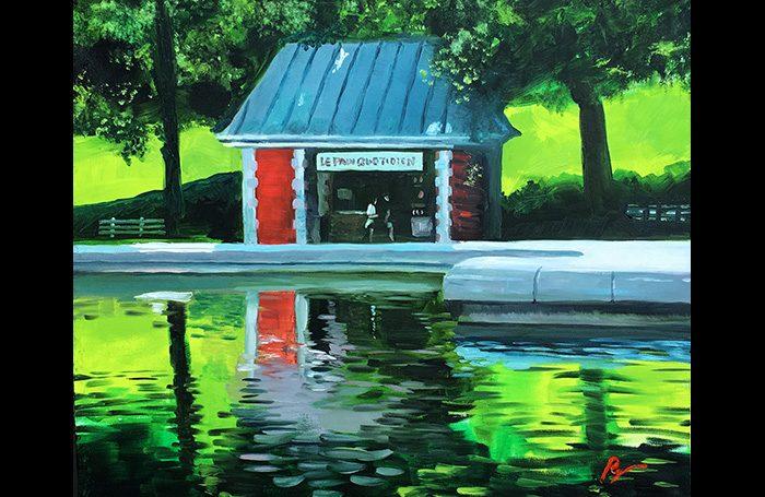 001-12 Central Park Opas Two 2020  Oil on canvas. 20x24.   $1200