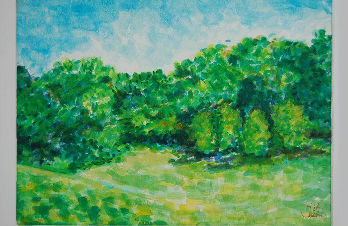 "006-02  Tree 917  11""x7 3/4"" watercolor $500"