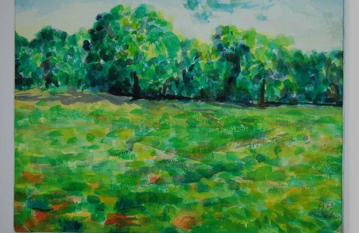"006-04  Tree 941  11""x7 3/4"" watercolor $500"