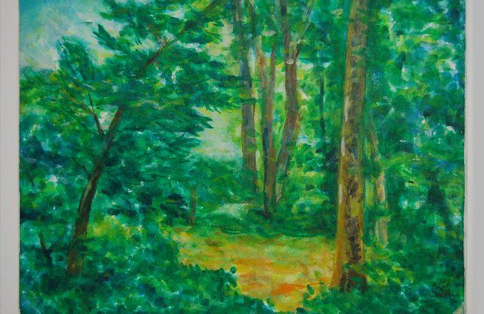 "006-05  Tree 953  11""x7 3/4"" watercolor $500"