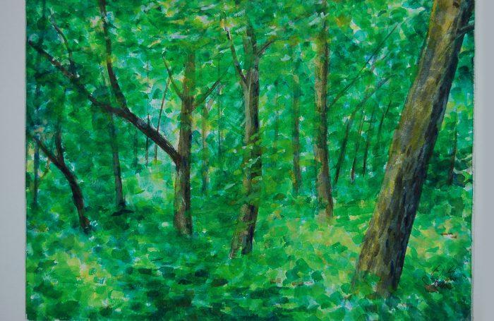 "006-07  Tree 976  11""x7 3/4"" watercolor $500"