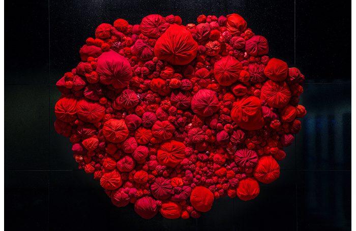 "009-07   Love   120""x120""   Fabric, sewn cotton   $30,000.00"